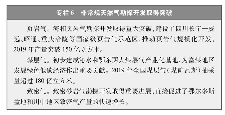 (图表)[受权发布]《新时代的中国能源发展》白皮书(专栏6)